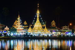 Wat Jongklang, Wat Jongkham - najwięcej ulubionego miejsca dla touris zdjęcie stock