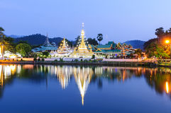 Wat Jongklang - Wat Jongkham o lugar o mais favorito imagem de stock