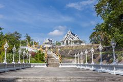 Wat Kaeo Ko Wararam is a famous temple in Krabi Province, Thailand. It is a beautiful Buddhist temple. In the center of Krabi town. Artistic picture. Beauty Royalty Free Stock Photos