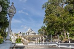 Wat Kaeo Ko Wararam is a famous temple in Krabi Province, Thailand. It is a beautiful Buddhist temple. In the center of Krabi town. Artistic picture. Beauty Royalty Free Stock Photo