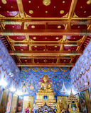 Wat Kaew Korawaram interior. Temple Wat Kaew Korawaram at krabi town overlooking the river and town. place worship Royalty Free Stock Photo