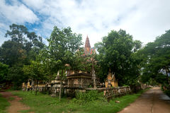 Wat in Kampot, Cambodia Royalty Free Stock Photo