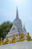 Wat kao Chedi och Buddhastaty royaltyfria foton