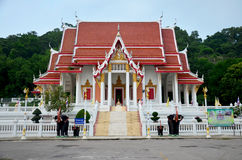 Wat Khao Chong Pran Temple for people pray to buddha and look Hu Royalty Free Stock Photography