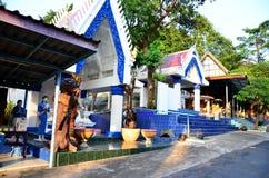 Wat Khao Wong Phra Chan at top of mountain in Lopburi, Thailand stock photos
