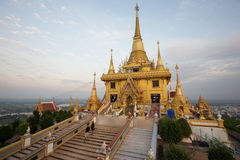 Wat Khiri Wong at sunset royalty free stock image