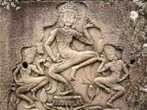 wat khmer танцоров asparas angkor Стоковое фото RF
