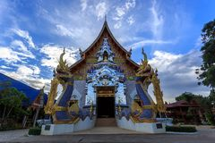 Wat Khrua Khrae temple in Chiang Rai at evening Royalty Free Stock Photos