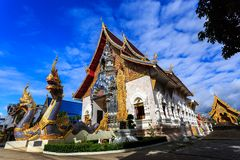 Wat Khrua Khrae temple in Chiang Rai at sunny day Royalty Free Stock Photos