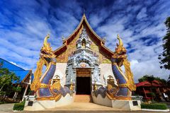 Wat Khrua Khrae temple in Chiang Rai at sunny day Stock Photography
