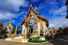 Wat Khrua Khrae temple in Chiang Rai at sunny day Royalty Free Stock Image