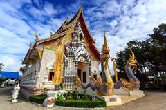 Wat Khrua Khrae temple in Chiang Rai at sunny day Royalty Free Stock Images