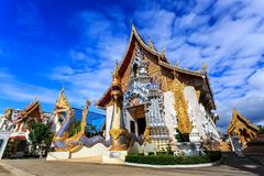 Wat Khrua Khrae temple in Chiang Rai at sunny day Royalty Free Stock Photography