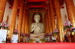 Wat Khua Khrae寺庙在清莱,泰国 库存图片