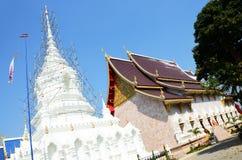 Wat Khua Khrae寺庙在清莱,泰国 免版税库存照片