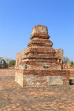 Wat Khudeedao, the ruin of a Buddhist temple in the Ayutthaya h Stock Images