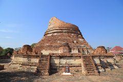 Wat Khudeedao, the ruin of a Buddhist temple in the Ayutthaya hi Stock Image