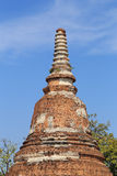 Wat Khudeedao, the ruin of a Buddhist temple in the Ayutthaya hi Royalty Free Stock Images