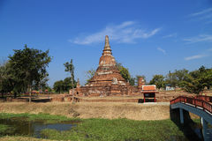 Wat Khudeedao, the ruin of a Buddhist temple in the Ayutthaya hi Royalty Free Stock Photo