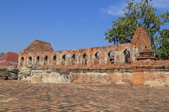 Wat Khudeedao, the ruin of a Buddhist temple in the Ayutthaya hi Royalty Free Stock Image