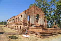 Wat Khudeedao, the ruin of a Buddhist temple in the Ayutthaya hi Stock Images