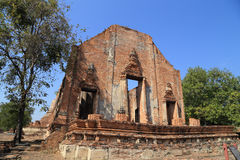Wat Khudeedao, the ruin of a Buddhist temple in the Ayutthaya hi Royalty Free Stock Photography
