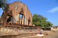 Wat Khudeedao, the ruin of a Buddhist temple in the Ayutthaya hi Royalty Free Stock Photo