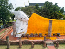 Wat Khun Intha Pramun temple at at Angthong Province, Historical Royalty Free Stock Image