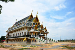 Wat Khun Inthapramun at Angthong Province Thailand. This ancient temple is located 9 kilometres along the Ang Thong-Pho Thong route and 2 kilometres along an stock photo