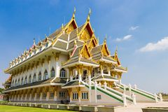 Beautiful palace at Wat Khun Inthapramun. Wat Khun Intrapramun is a nice place in Angthong province, Thailand. There is beautiful palace Royalty Free Stock Photography
