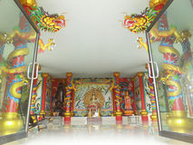 Wat Khun Samut Chinese, Chinese temples in Thailand Royalty Free Stock Photo