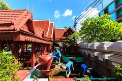 Wat Klang Wiang temple, ChiangRai at sunny day Stock Image