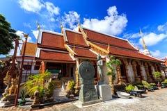Wat Klang Wiang temple, ChiangRai at sunny day Stock Images