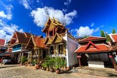 Wat Klang Wiang temple, ChiangRai at sunny day Stock Photography