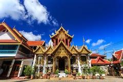 Wat Klang Wiang temple, ChiangRai at sunny day Royalty Free Stock Image