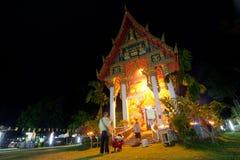 Wat Klong Prao monastery during Makha Bucha Royalty Free Stock Images