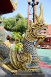 Wat Klong Wiang寺庙Chedi在清莱,泰国 免版税库存照片