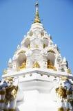 Wat Klong Wiang寺庙Chedi在清莱,泰国 库存图片