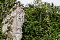 Wat Kok Wanaram Goddess Guan Yin Statue, Pulau Langkawi, Kedah, Malaysia Fotografering för Bildbyråer
