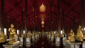 Wat Krathum Suea Pla temple ,Golden buddha temple in Thailand.  Stock Photos