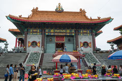 Wat Leng-noei-YI 2, le plus grand temple bouddhiste chinois dans Thail Photographie stock libre de droits