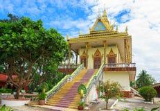Wat Leu. Amazing view of Wat Leu in Sihanoukville, Cambodia royalty free stock image