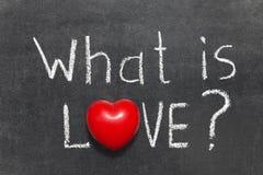 Wat liefde is Stock Foto