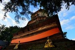 Wat Lok Molee .Chiang Mai THAILAND. Stupa or Chedi in the temple named Wat Lok Molee. Chiang Mai THAILAND stock photos