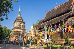 Wat Lok Molee Chiangmai, Thailand royaltyfri bild