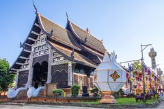 Wat Lok Molee Chiangmai, Thailand arkivbild
