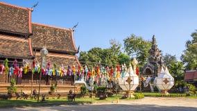 Wat Lok Molee Chiangmai, Thailand arkivbilder