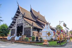Wat Lok Molee Chiangmai, Thailand fotografering för bildbyråer