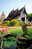 Wat Lok Molee i Chiangmai Royaltyfria Bilder