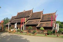 Wat Lok Moli i Chiang Mai arkivbild